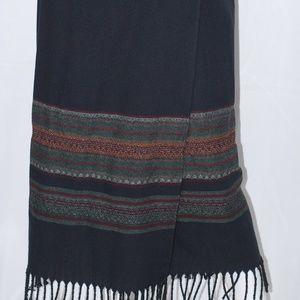 Bonita Black  Wool Blend Maxi Skirt Sz 6P